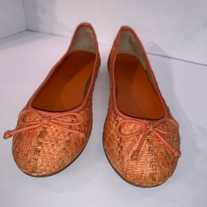 Franco Sarto Orange Ballet Flats L-Zapp